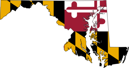 Maryland flag state shape image
