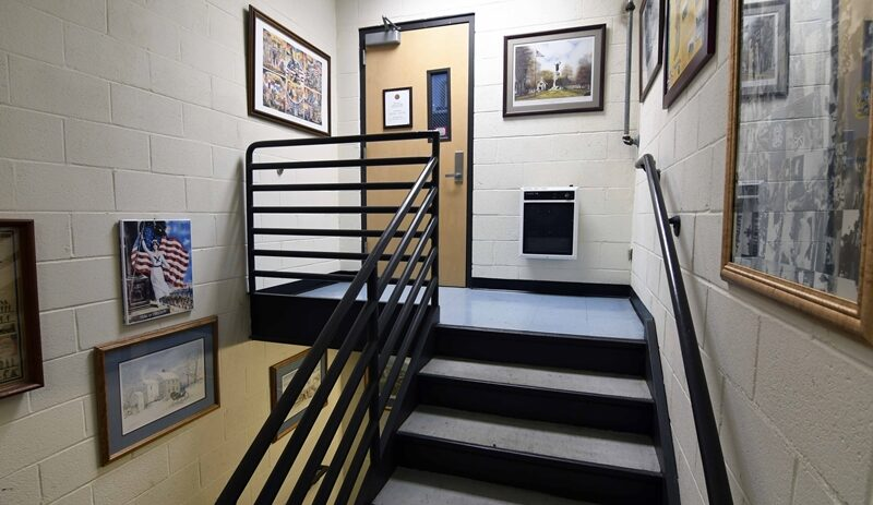 Library front staircase entrance image 05