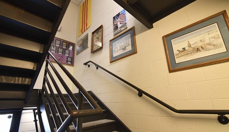 Library front staircase entrance image 03